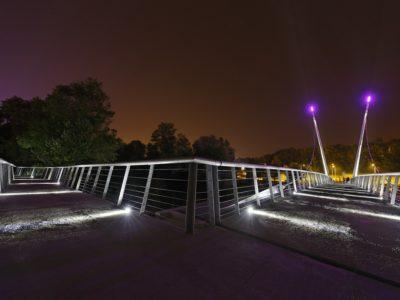 Eccelectro éclairage LED passerelle Boulazac