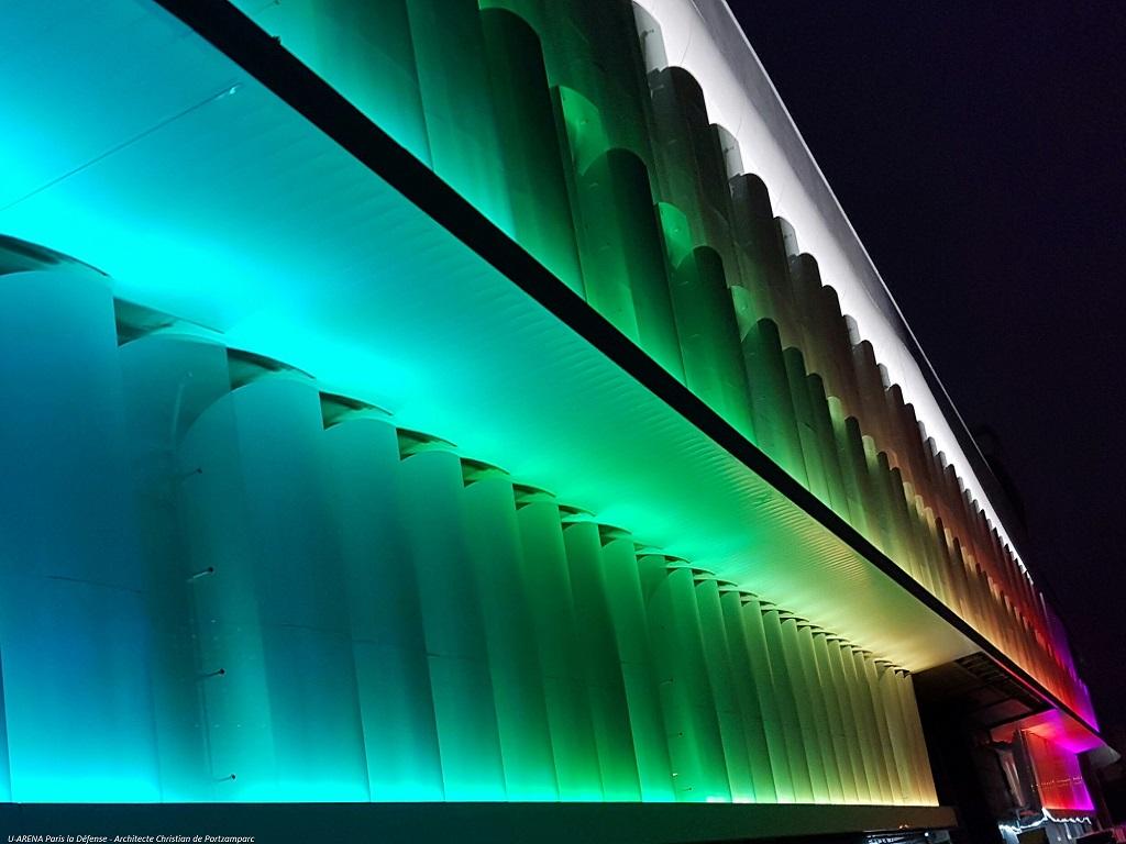 Eccelectro Luminaire LED U arena Paris