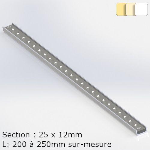 Monochrome white strip steel profile
