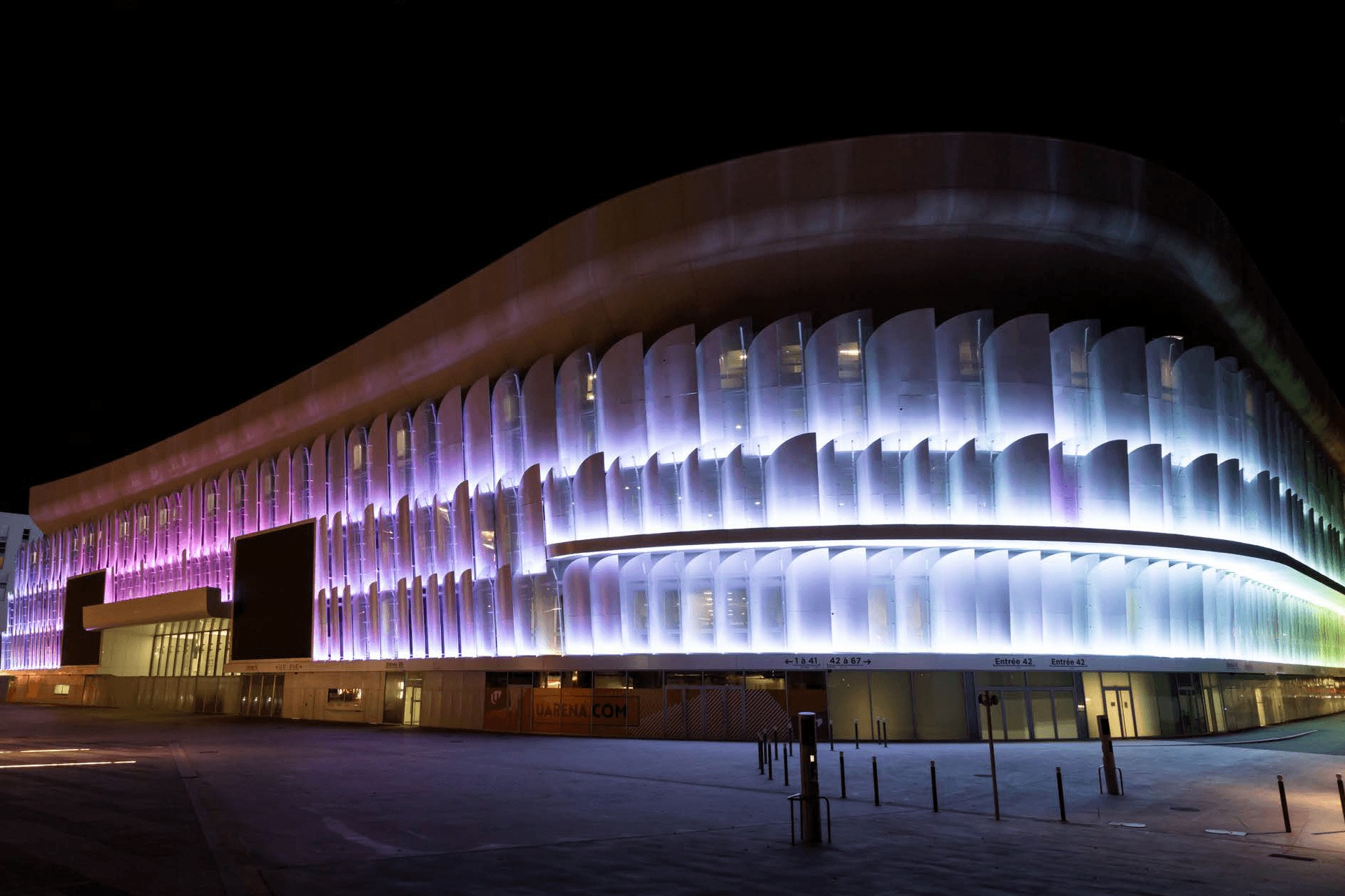 Eccelectro U arena de Paris Éclairage LED