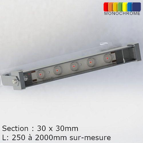 Réglette Rampe LED Monochrome IP65 Professionnelle